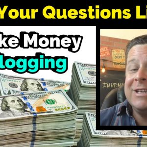 Make Money Blogging - LIVE Q And A - How Much Blogs REALLY Earn