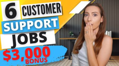 6 Remote Customer Service Jobs - High paying virtual customer support jobs to work from home online